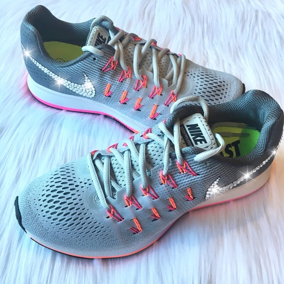 76a52f1924872 Bling Nike Pegasus 33 Shoes w  Swarovski Crystals
